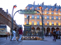 Métropolitain, station Palais-Royal -  I was blown away by the entrances to the Paris métro, because we have one in Montréal as well.