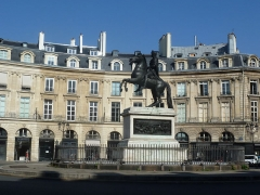 Place des Victoires : le sol - Deutsch: Foto: Paris - Place des Victoires (Oktober 2014)