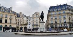 Place des Victoires : le sol - Deutsch: Siegesplatz, Paris, Region Île-de-France, Frankreich