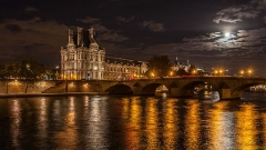 Pont-Royal - English: Pont Royal & Pavillon de Flores, Paris, France