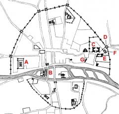 Enceinte de Philippe-Auguste -  Map of Paris in 14th century