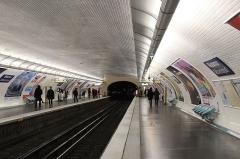 Métropolitain, station Réaumur-Sébastopol -  Vue en direction de Gallieni de la station du métro parisien Réaumur - Sébastopol (ligne 3).