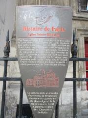 Eglise Sainte-Elisabeth - Français:   Panneau Histoire de Paris
