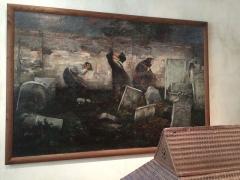 Ancien hôtel de Saint-Aignan (ou hôtel d'Avaux, de Rochechouart, d'Asnières), actuellement musée d'art et d'histoire du Judaïsme - Cimetière juif, tableau de Samuel Hirszenberg (1892), Musée d'art et d'histoire du Judaïsme