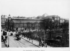 Marché du Temple - Français:   Vue du marché du Temple depuis la rue du Temple vers le nord-est, en 1901.