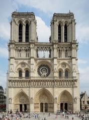 Cathédrale Notre-Dame - English: Cathedral Notre Dame de Paris, West view, Paris, France