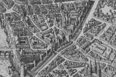 Enceinte de Philippe-Auguste -  Vue de l'enceinte de Philippe Auguste Rive gauche au XVIIe siècle
