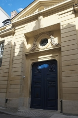 Hôtel Lambert - Deutsch: Hôtel Lambert auf der Île Saint-Louis im 4. Arrondissement in Paris (Île-de-France/Frankreich), Eingang