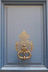 Hôtel Lambert - Deutsch: Hôtel Lambert auf der Île Saint-Louis im 4. Arrondissement in Paris (Île-de-France/Frankreich), Türklopfer
