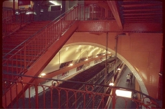 Métropolitain, station Cité - English: Metro-Cite Station is a subway station located in Paris on an island in the Seine where Notre Dame is standing.