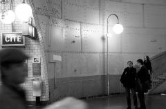 Métropolitain, station Cité - English: Métro Cité