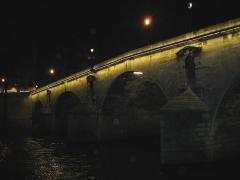 Pont Marie - Photo du fr:Pont Marie de nuit.