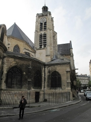 Eglise Saint-Laurent - English: View from north-east of the church of Saint-Laurent in Paris 10th arrond.