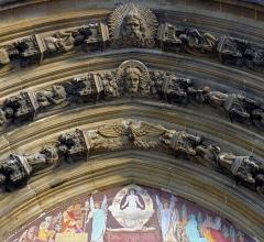 Eglise Saint-Laurent - Français:   Église Saint-Laurent (portail, archivolte) - Paris X