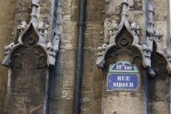 Eglise Saint-Laurent - Deutsch:   Straßenschild an der katholischen Pfarrkirche Saint-Laurent im 10. Arrondissement von Paris, Rue Sibour