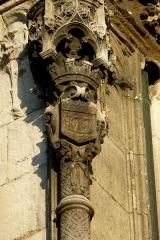 Eglise Saint-Laurent - Deutsch:   Katholische Pfarrkirche Saint-Laurent im 10. Arrondissement von Paris, Säule mit dem Stadtwappen von Paris