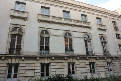 Hôtel Gouthière - Deutsch: Hôtel Gouthière in Paris (10. Arrondissement), Gartenseite des Zentralbaus
