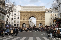 Porte Saint-Martin - English:   Paris rally in support of the victims of the 2015 Charlie Hebdo shooting, 11 January 2015. Porte Saint-Martin.