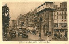 Porte Saint-Martin - Français:   Paris - Carte postale avant 1936 - Porte Saint-Martin
