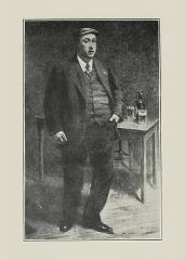 Théâtre de la Renaissance - Français:   Portrait d\'Alfred Jacque dans le rôle de Ferdinand Beulemans au Théâtre de la Renaissance de Paris en 1910, par Albert Depré