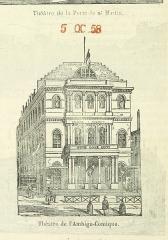Théâtre de la Porte-Saint-Martin - Image taken from:  Title: \