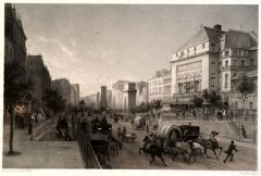 Théâtre de la Porte-Saint-Martin -  Paris, Boulevard und Porte St. Martin mit Theatre de la Porte Saint-Martin