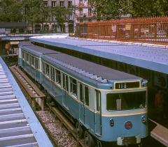 Métropolitain, station Bastille -  MP 59 à Bastille en 1964
