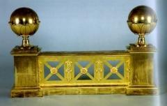 Mobilier National - Français:   Feu en deux parties, vers 1810-1811, bronze doré, Jacques François Feuchère, Mobilier National.