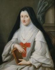 Hôpital Cochin (ancien noviciat des Capucins) - English: Marie-Jeanne-Florimonde de Dio de Montepeyroux, last abbess of Port-Royal Abbey of Paris