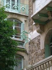 Immeuble dit Castel Béranger - Deutsch: Detail des Castel Béranger in Paris, Rue La Fontaine
