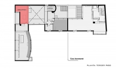 Villa La Roche, actuellement Fondation Le Corbusier - English: Planta Biblioteca