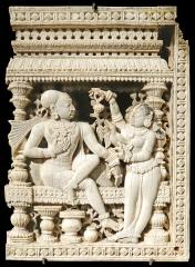 Musée Guimet -  Panneau provenant du décor d'une porte Tamil Nadu Epoque nayak, XVIIème siècle Ivoire Musée des arts asiatiques - Guimet                               www.guimet.fr