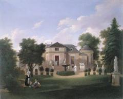 Pavillon de Balzac, actuellement musée - La chartreuse de la Folie Beaujon à Paris, vers 1830. Construite par Nicolas-Claude Girardin pour Nicolas Beaujon.