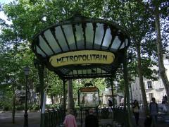 Métropolitain, station Abbesses -  Place des Abbesses, Paris, France