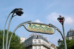 Métropolitain, station Anvers -  Paris metro sign, Anvers métro station;