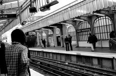 Métropolitain, station Barbès-Rochechouart - Français:   Metro Barbes Rochechouart