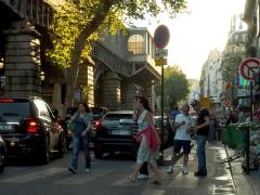 Métropolitain, station Barbès-Rochechouart -  Boulevard de la Chapelle. Paris XVIII. France.