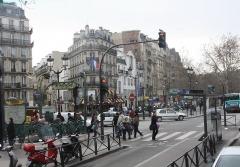 Métropolitain, station Blanche -  Paris - Blanche station on Boulevard de Clichy