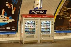 Métropolitain, station Pigalle -  Pigalle metro station, Paris.