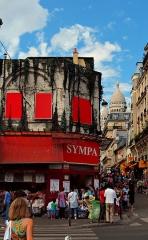 Théâtre de l'Elysée-Montmartre, ancien dancing -  Sacré-Cœur in Montmartre, Paris France