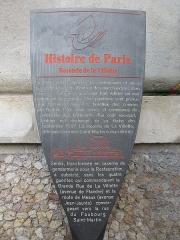 Ancienne barrière d'octroi de la Villette ou rotonde de la Villette - Français:   Panneau Histoire de Paris «Rotonde de la Villette»