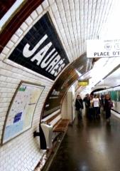 Métropolitain, station Jaurès -  Metro Station Jaurés, Paris (France). Photo taken by M.GASMI.