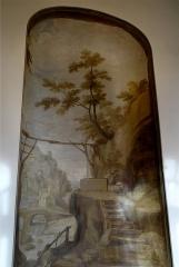 Hospice Debrousse - Français:   Peinture murale de Saint Vénert, attribuée à Jean Valade entre 1723 et 1727. Salon du Pavillon de l\'Ermitage, Paris XXème arrondissement, France.