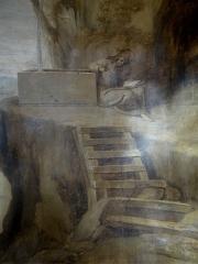 Hospice Debrousse - Français:   Peinture murale de Saint Vénert, attribuée à Jean Valade entre 1723 et 1727 (détail). Salon du Pavillon de l\'Ermitage, Paris XXème arrondissement, France.