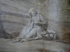 Hospice Debrousse - Français:   Peinture murale de Sainte Azelle (détail), attribuée à Jean Valade entre 1723 et 1727. Salon du Pavillon de l\'Ermitage, Paris XXème arrondissement, France.