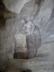 Hospice Debrousse - Français:   Peinture murale de Sainte \