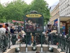 Métropolitain, station Alexandre-Dumas - Français:   Entrée de la station de métro Alexandre Dumas, Paris.