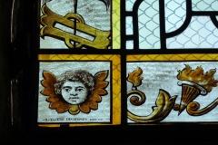 Eglise - Deutsch: Bleiglasfenster in der Kirche Saint-Barthélemy in Beaumont-du-Gâtinais (Frankreich), Restaurierung: Atelier Duchemin Paris 200?