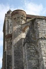 Collégiale Saint-Martin - Deutsch: Ehemalige Kollegiatskirche Saint-Martin in Champeaux (Seine-et-Marne) im Département Seine-et-Marne in der Region Île-de-France (Frankreich), Westfassade