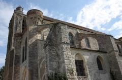 Collégiale Saint-Martin - Deutsch: Ehemalige Kollegiatskirche Saint-Martin in Champeaux (Seine-et-Marne) im Département Seine-et-Marne in der Region Île-de-France (Frankreich), Ansicht von Südwesten